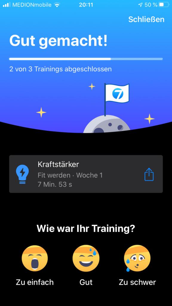 Die Fitness App Seven im Test 6