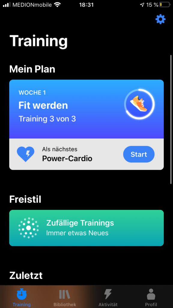 Die Fitness App Seven im Test 4