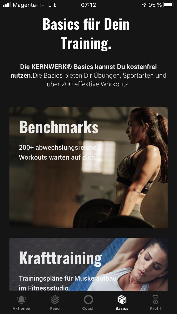 Die Fitness App Kernwerk im Test 5