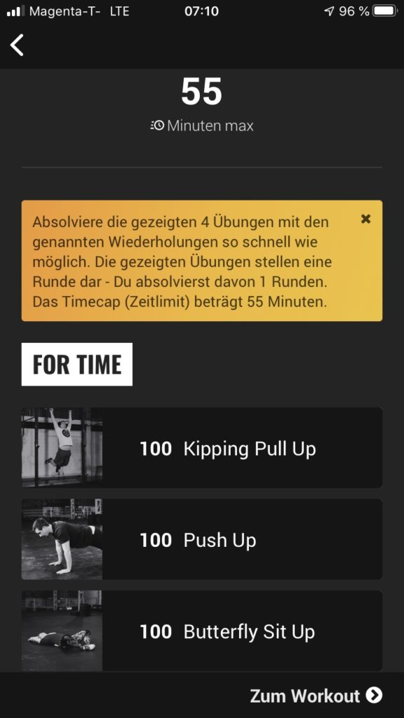 Die Fitness App Kernwerk im Test 4